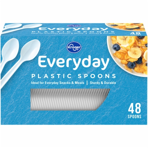 Kroger® Everday Plastic Spoons Perspective: front