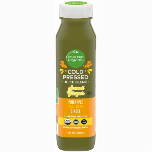 Simple Truth Organic® Pineapple Cucumber Ginger Cold Pressed Juice Blend Perspective: front