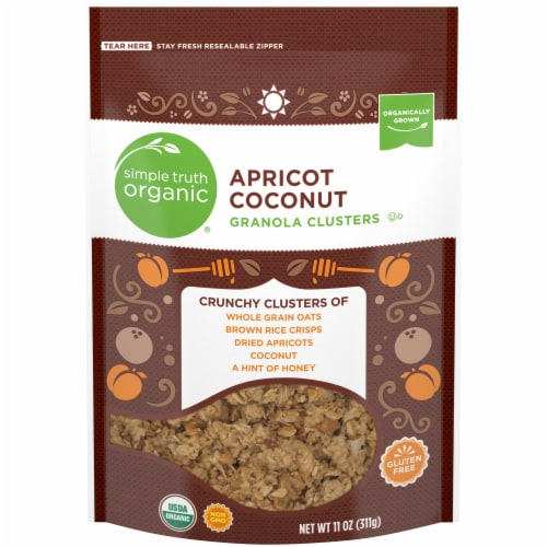 Simple Truth Organic™ Apricot Coconut Granola Clusters Perspective: front