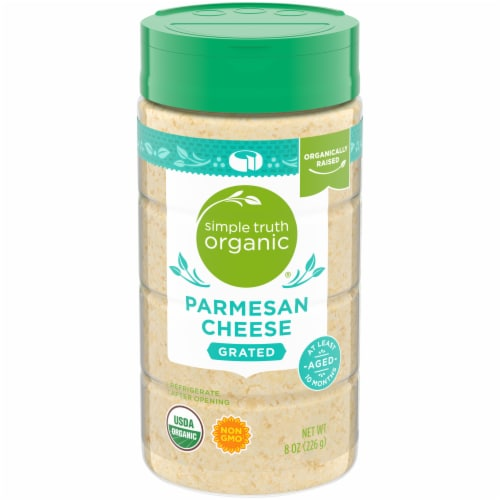 Simple Truth Organic® Grated Parmesan Cheese Perspective: front