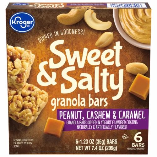Kroger® Sweet & Salty Peanut Cashew & Caramel Granola Bars Perspective: front