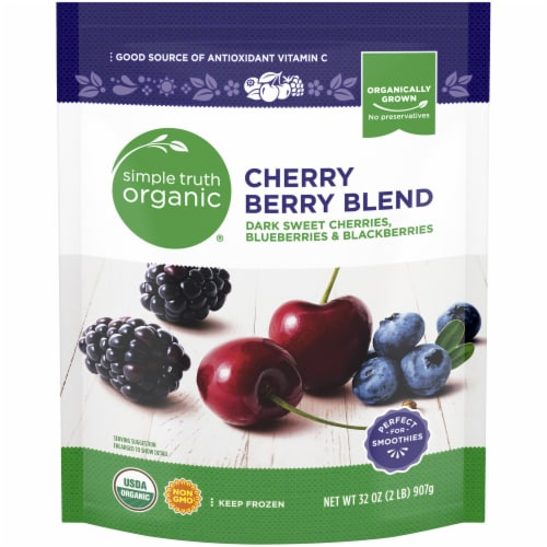 Simple Truth Organic® Cherry Berry Blend Frozen Fruit Perspective: front