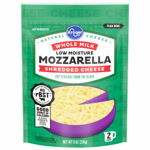 Kroger® Whole Milk Shredded Mozzarella Cheese Perspective: front