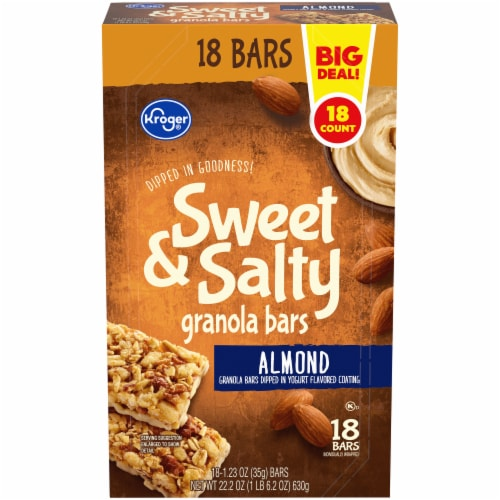 Kroger® Sweet & Salty Almond Granola Bars 18 Count Perspective: front