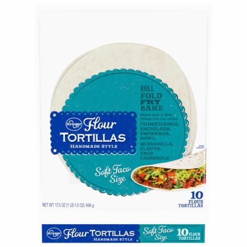 Kroger® Soft Taco Size Flour Tortillas 10 Count Perspective: front