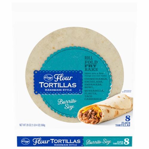 Kroger® Handmade Style Burrito Size Flour Tortillas Perspective: front