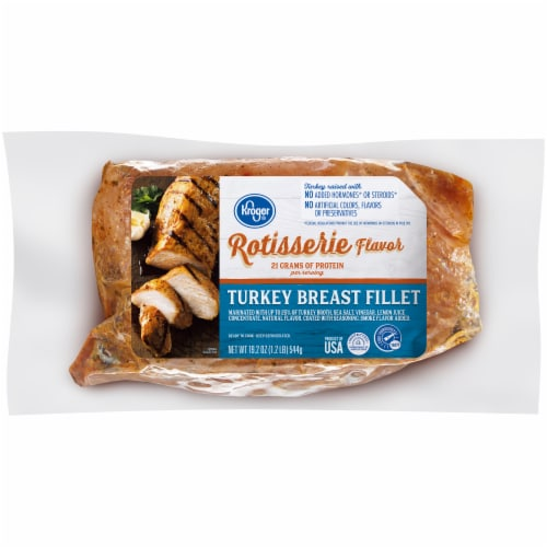 Kroger® Rotisserie Flavor Marinated Turkey Breast Fillet Perspective: front