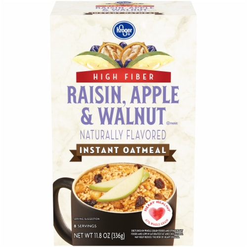 Kroger® Raisin Apple & Walnut Instant Oatmeal 8 ct Perspective: front