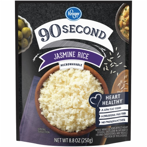 Kroger® 90 Second Jasmine Rice Pouch Perspective: front