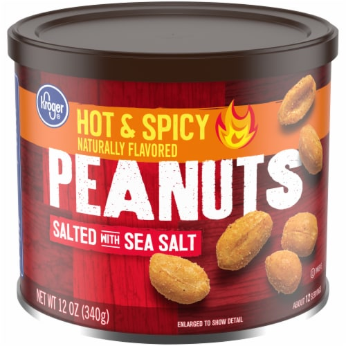 Kroger® Hot & Spicy Peanuts with Sea Salt Perspective: front