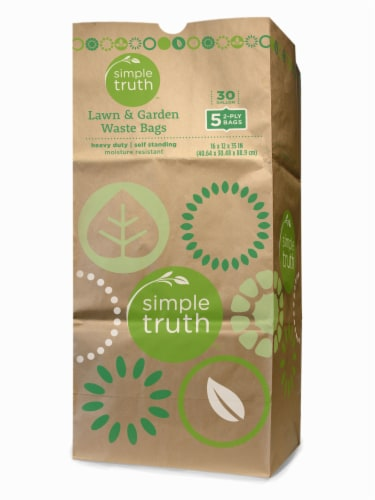 Simple Truth™ 30 Gallon Lawn & Garden Waste Bags Perspective: front