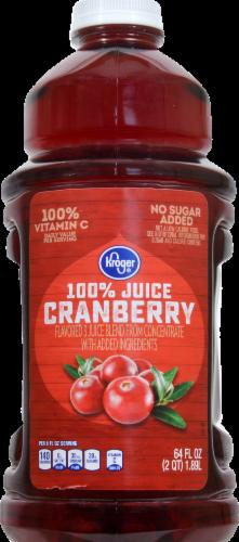 Kroger® No Sugar Added Cranberry Juice Perspective: front