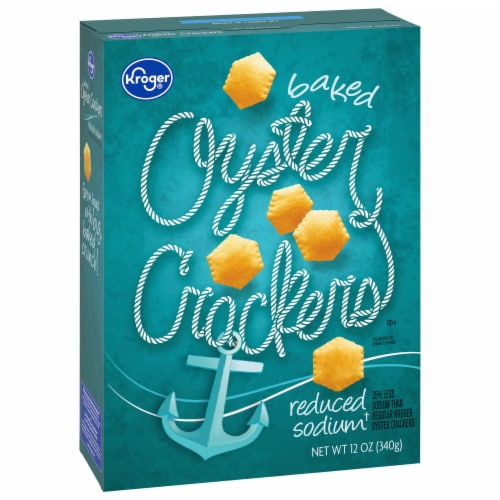Kroger® Reduced Sodium Oyster Crackers Perspective: front