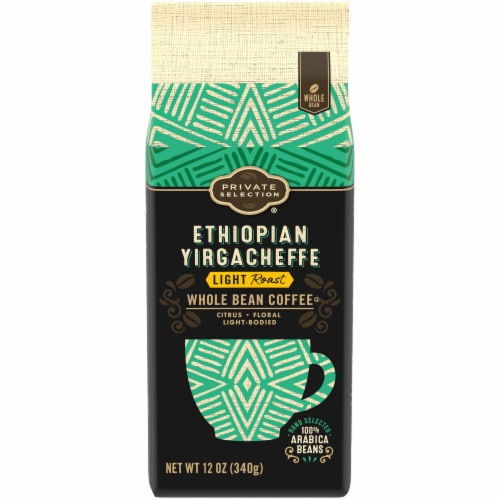 Private Selection® Ethiopian Yirgacheffe Light Roast Whole Bean Coffee Perspective: front