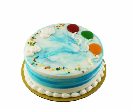 Bakery Fresh Goodness Double Layer Balloon Sky Chocolate Cake Perspective: front