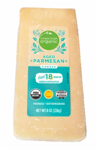 Simple Truth Organic™ Aged Parmesan Cheese Perspective: front