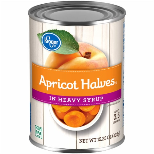 Kroger® Apricot Halves in Heavy Syrup Can Perspective: front