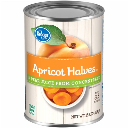 Kroger® Apricot Halves in Pear Juice Perspective: front