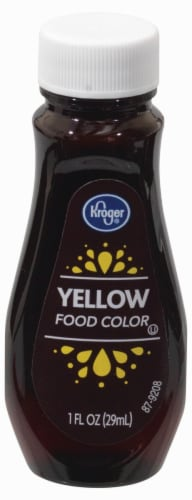 Kroger® Yellow Food Coloring Perspective: front