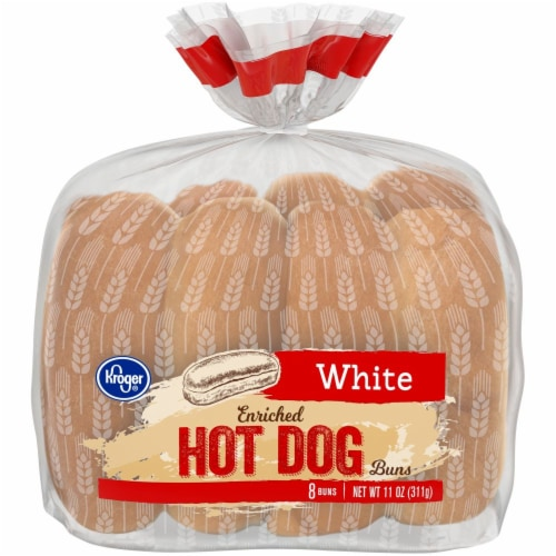 Kroger® White Hot Dog Buns Perspective: front