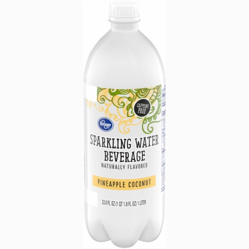 Kroger®  Pineapple Coconut Sparkling Water Perspective: front