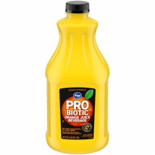 Kroger® Probiotic Orange Juice Beverage Perspective: front