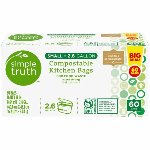 Simple Truth™ Small Compostable Kitchen Bags Perspective: front
