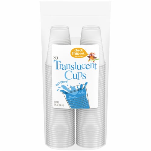 Check This Out™ 9-Ounce Translucent Cups Perspective: front
