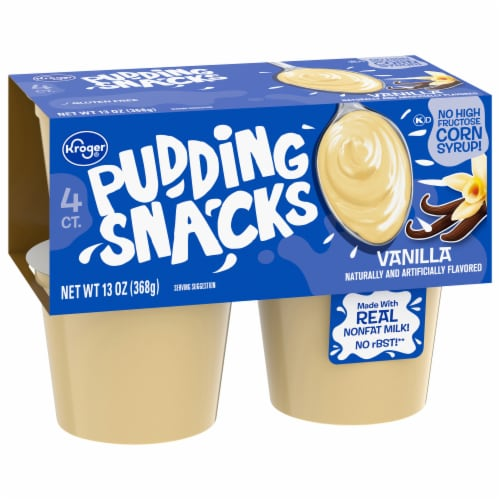 Kroger® Vanilla Pudding Snacks Perspective: front