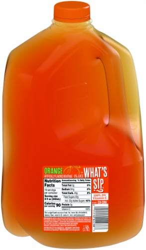 What's Sip? Orange Flavored Drink Perspective: front