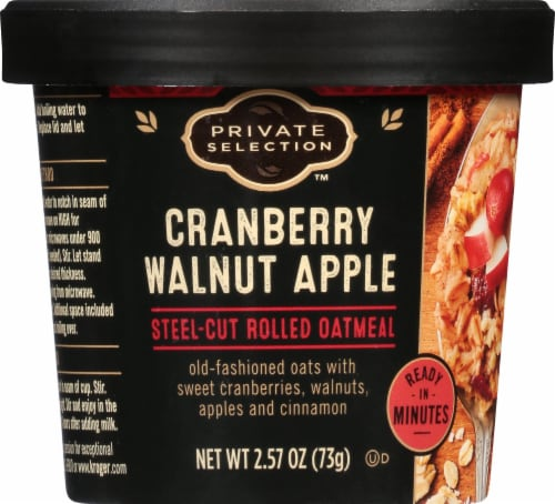 Private Selection™ Cranberry Apple Walnut Steel-Cut Rolled Oatmeal Perspective: front