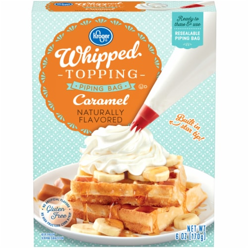 Kroger Caramel Whipped Topping In Piping Bag 6 Oz