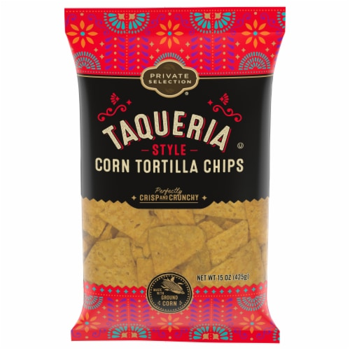 Private Selection® Taqueria Style Corn Tortilla Chips Perspective: front