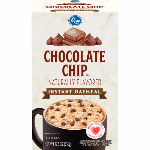 Kroger® Chocolate Chip Instant Oatmeal Perspective: front