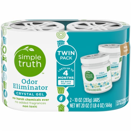 Simple Truth™ Odor Eliminator Crystal Gel Twin Pack 2 Count Perspective: front