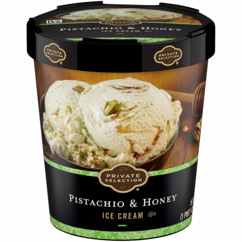 Private Selection® Pistachio & Honey Ice Cream Perspective: front