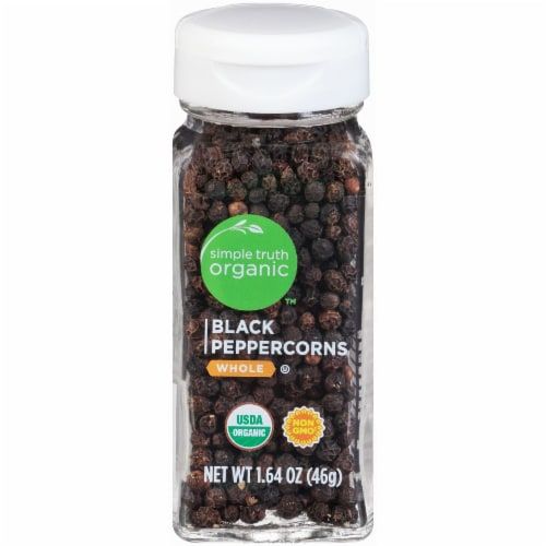 Simple Truth Organic™ Whole Black Peppercorns Perspective: front