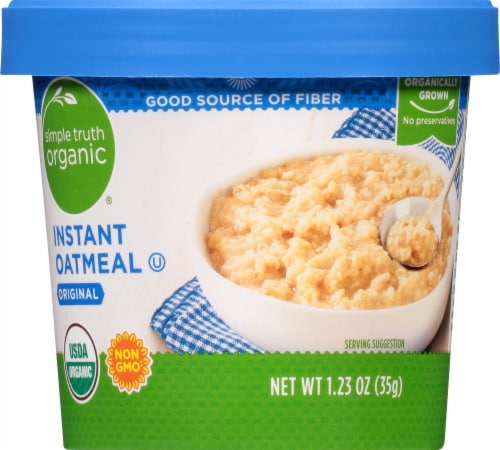 Simple Truth Organic® Original Instant Oatmeal Cup Perspective: front