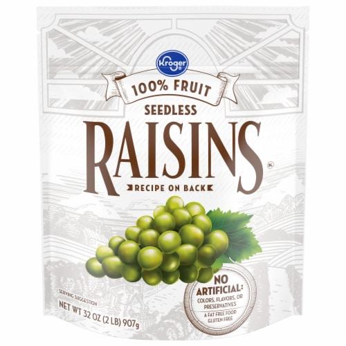 Kroger® Seedless Raisins Zip Bag Perspective: front