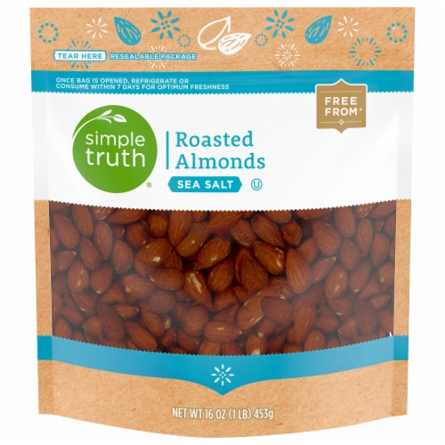 Simple Truth® Sea Salt Roasted Almonds Perspective: front