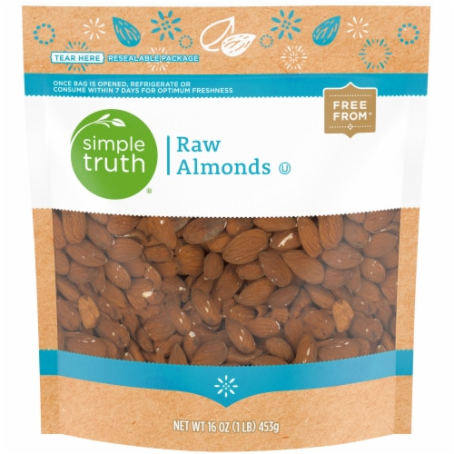 Simple Truth® Raw Almonds Perspective: front