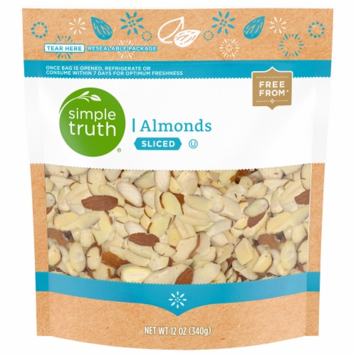 Simple Truth® Sliced Raw Almonds Perspective: front