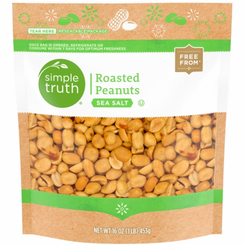 Simple Truth™ Sea Salt Roasted Peanuts Pouch Perspective: front