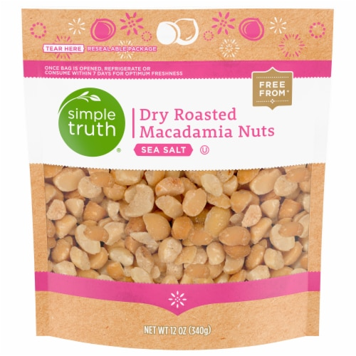 Simple Truth® Dry Roasted Sea Salt Macadamia Nuts Perspective: front