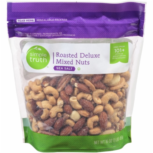 Simple Truth™ Sea Salt Roasted Deluxe Nut Mix Perspective: front