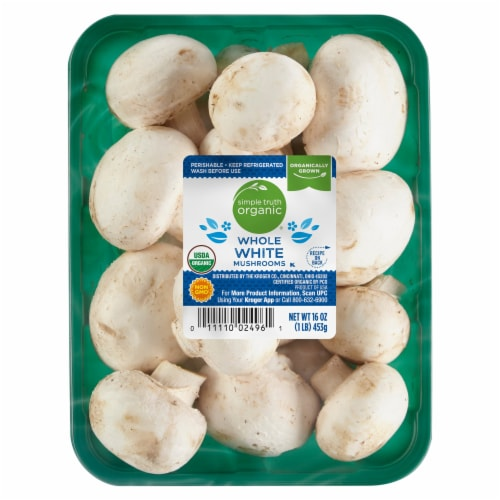 Simple Truth Organic™ Whole White Mushrooms Perspective: front