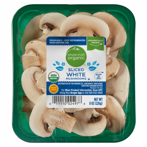 Simple Truth Organic™ Sliced White Mushrooms Perspective: front