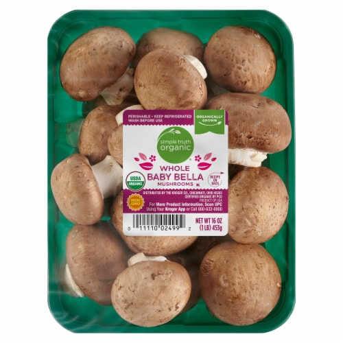 Simple Truth Organic™ Whole Baby Bella Mushrooms Perspective: front