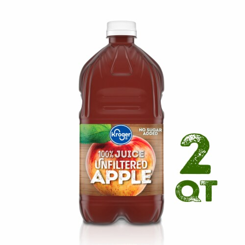 Kroger® Unfiltered 100% Apple Juice Perspective: front