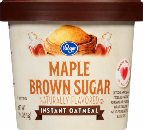 Kroger® Maple Brown Sugar Instant Oatmeal Perspective: front